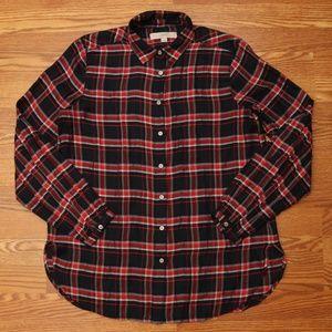 LOFT Button Down Blouse Shirt Long Sleeves